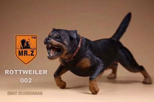 1:6 Scale Mr.Z Animal Toys Black Rottweiler Germany Resin Figure Gift Ornament
