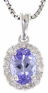 Ejvp-295-50-Macizo-14K-Oro-Blanco-0-83-Ct-Real-Natural-Tanzanite-diamante-colgante