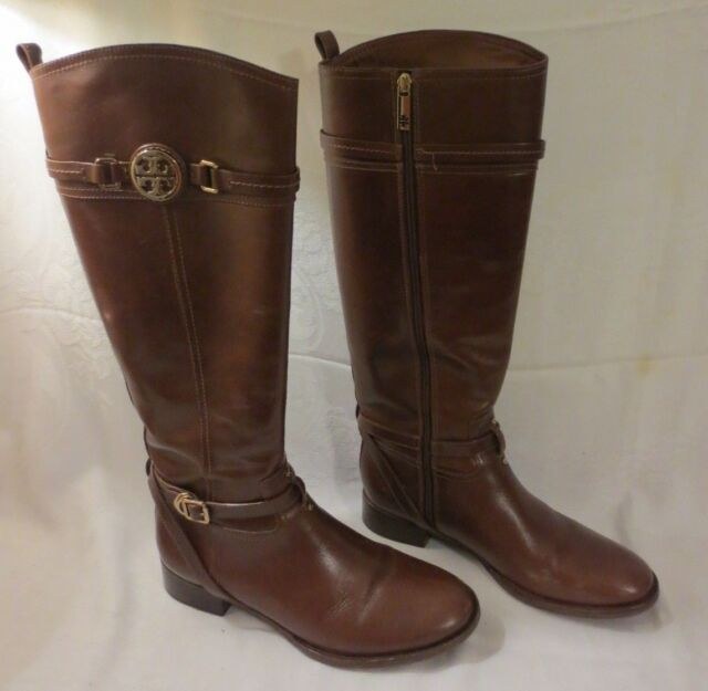 029e4932be4f TORY BURCH CALISTA BROWN LEATHER RIDING BOOTS IN ORIGINAL BOX SIZE 11