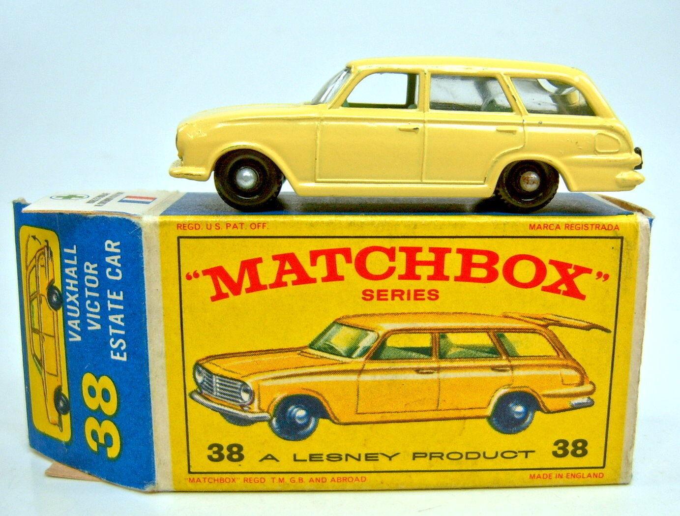 Matchbox RW 38b VAUXHALL VICTOR jaune noire roues vertes IE dans  E  BOX