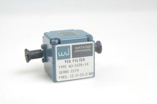 Details about  /WATKINS JOHNSON YIG FILTER WJ-5226-14 12-18 GHz