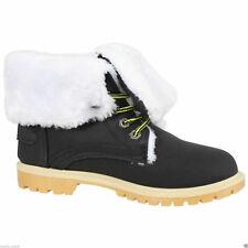851391257e2 item 1 WOMENS WINTER ANKLE BOOTS LADIES ARMY COMBAT FLAT GRIP SOLE FUR  LINED SHOES SIZE -WOMENS WINTER ANKLE BOOTS LADIES ARMY COMBAT FLAT GRIP  SOLE FUR ...