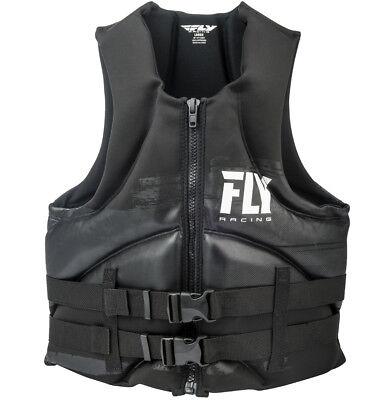 Womens NEOPRENE Life Jacket Fly Racing Safety Vest Full Zip w Buckles Black//Pink