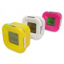 Imported LCD Four Sided Magic Clock/ Alarm Thermometer 4SC (Multi Color Options)