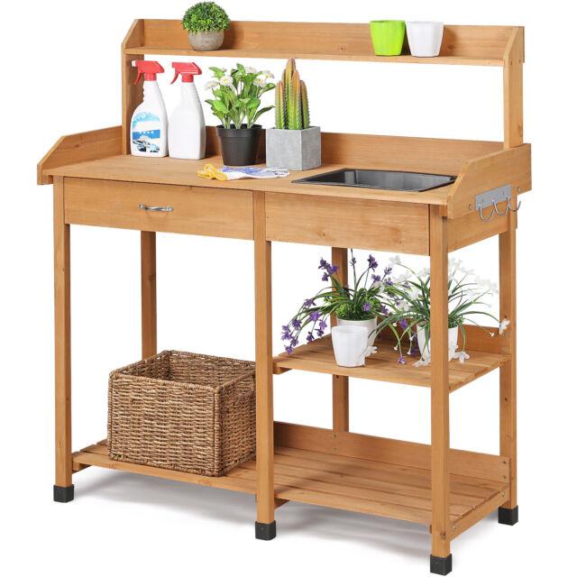 Potting Bench Outdoor Garden Work Table Station Planting Resin Sturdy For Sale Online Ebay