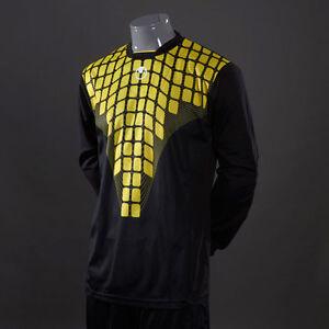 UHLSPORT-Solar-GK-Shirt-MAILLOT-GARDIEN-Football-Noir-Jaune-Homme-100551204-Haut