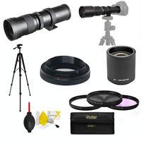 Zoom Lens 420-800mm 840-1600mm For Canon Eos Rebel Xt Xs Xti Xsi Sl1 D6 D60 T5