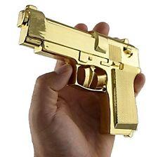 Big Gun Gold Tone Hip Hop Large Glock Metal Fake Pistol Snap-On New Belt Buckle