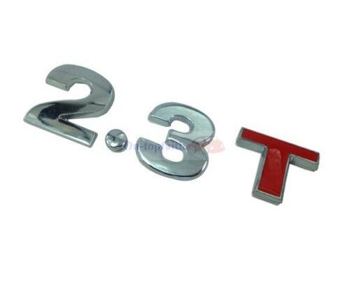 2.3T 2.3 T 3.2T 3.2 T Turbo Engine Metal Rear Trunk Emblem Badge Decal Sticker