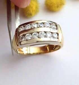 ANELLO-DUE-ORI-18KT-CON-CUBIC-ZIROCNIA-18KT-SOLID-YELLOW-GOLD-ZIRCONIA-RING