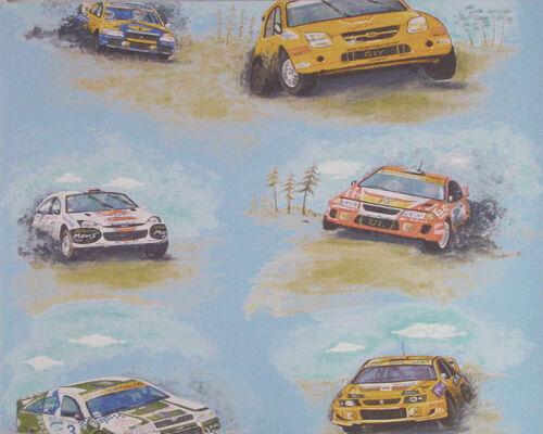 1 Rôle Chic Chambre Enfant Papier Peint Auto-Rally Racing-Team 7498-19