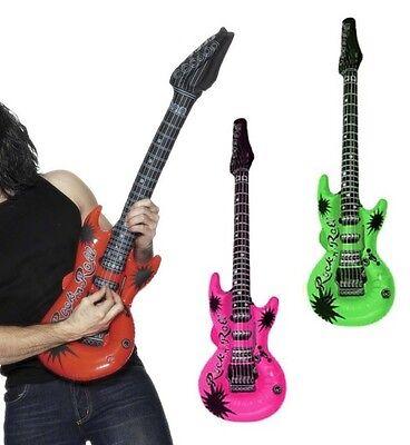GroßZüGig Aufblasbare Gitarre Luftgitarre Verschiedene Farben Neu & Ovp