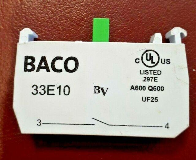 Baco Contact block, 33E10.N/O.