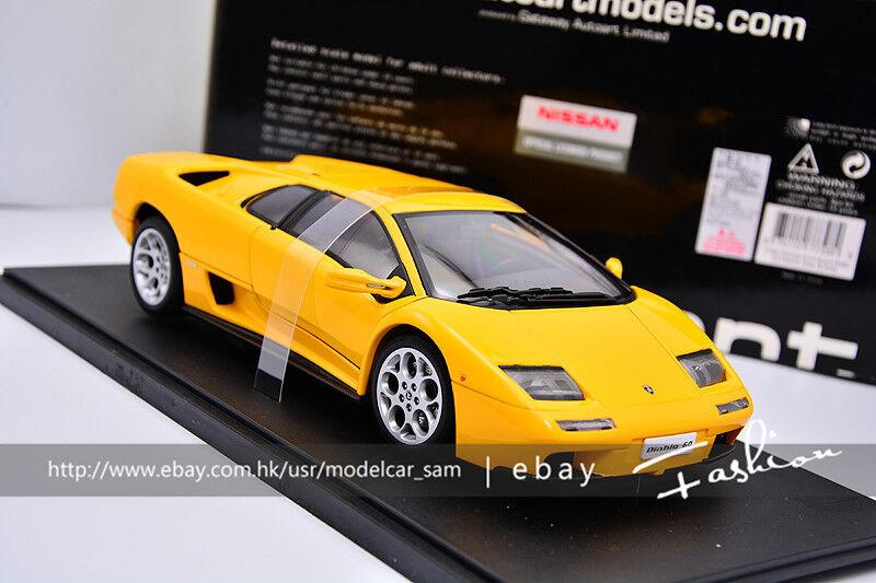 Autoart 1 18 Lamborghini Diablo 6.0 giallo