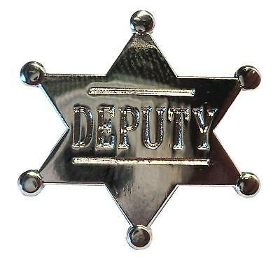 Metal SHERIFF Western Wild West Cowboys /& Indians Law Enforcement Badge 25mm New