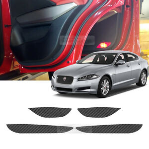 Carbon Door Cover Plank Protective Film Anti Kick For JAGUAR 2017-2018 F-PACE