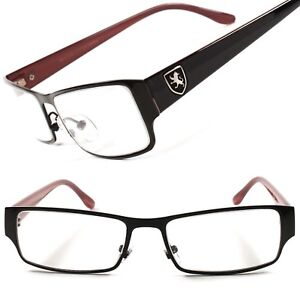 91ba5dbb2 Image is loading Stylish-Black-Rectangle-Prescription-Frame-Mens-Womens- Clear-