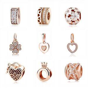 Sterling-Silver-925-Charm-Bead-Pendant-Style-Bracelets-Jewelry