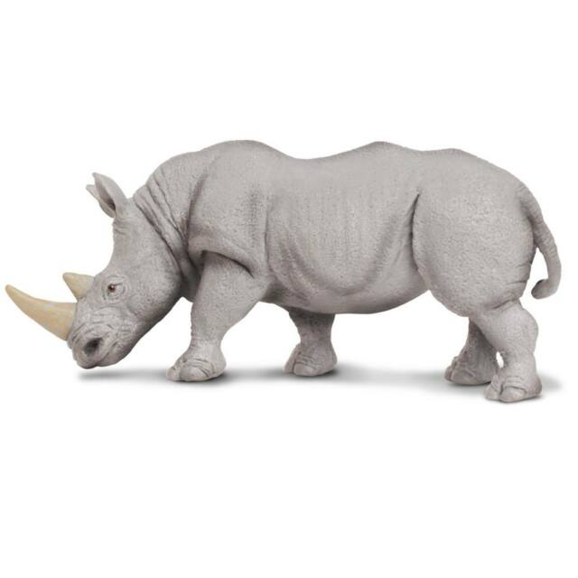 Wild Safari Wildlife Indian Rhino Safari Ltd Animal Educational Toy Figure
