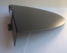 10 Slatgrid Shoe Floatshelf 10x10 With Round Front Black Metal Store Display