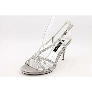 1b75f02e42 Nina Bobbie Silver Womens Shoes Size 6.5 M Sandals for sale online ...