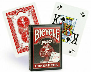 Bicycle-Poker-Peek-Pro-Red-Playing-Cards-USPCC-New-Sealed-Deck