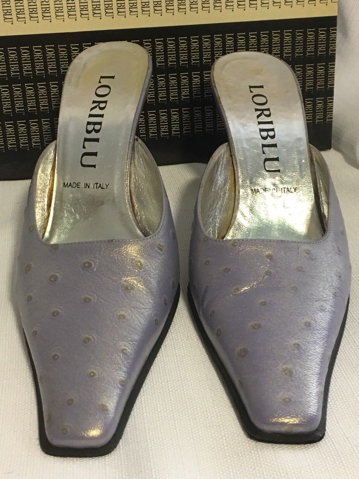 schuhe LORIBlau 3  High Heel LIGHT lila LAVENDAR Slides Slides Slides Leather 36 1 2 6.5 2bf043