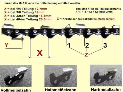 "50cm 325 1,5 76 TG für KM45 KM52 KM4500 KM5200 KM5800 Sägekette Kette 20/"" Zoll"