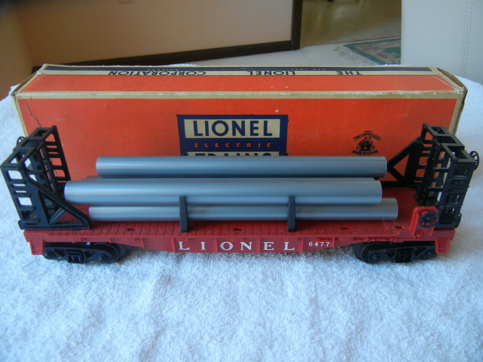 LIONEL POSTWAR 1605W SANTA FE SET 208 6800 6801 6801 6801 6477 6802 6464-425 FROM 1958 d08904