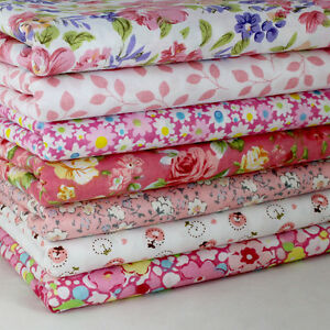 Sewing-Pink-7-Assorted-Pre-Cut-10-Squares-Quilting-Cotton-Fabric