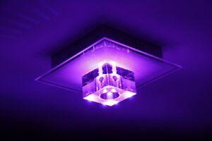 RGB LED Farbwechsler Decken Leuchte Fernbedienung Wohn Schlaf Zimmer Beleuchtung