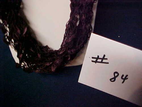 Bloodwine Hand Crocheted Ladder Trellis Ribbon Necklace #84