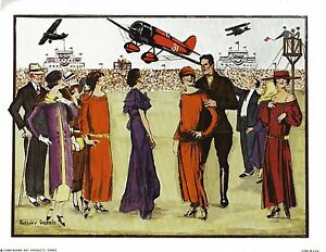Vintage Anthony Gruerio Print Art Deco Air Show Litho Excellent  Condition