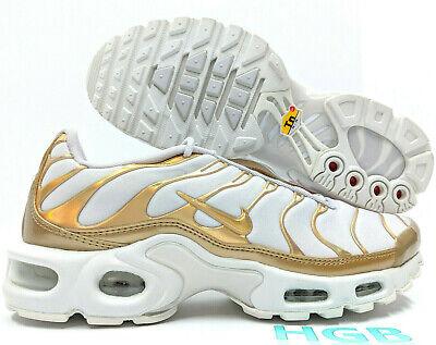 air max plus tn white and gold