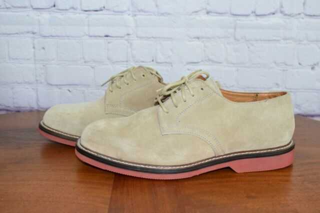 NORDSTROM Buck Men's Brown Suede Derby Lace Plain Cap Shoes size 8.5 W US