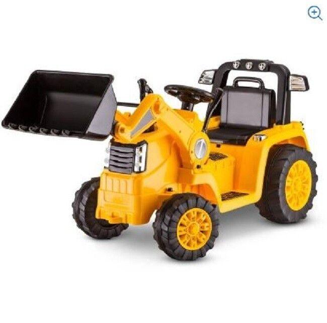 Barn Bulldozer Ride on Toy Battery Poweröd Bacchoe Riding 6V Återladdningsbar gul