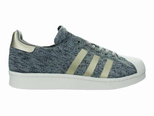 f0a4ee59730a Adidas Originals Superstar Boost Primeknit Noble Metals Grey Gold White  BB8973