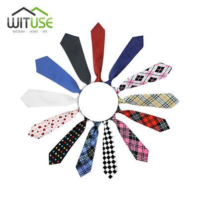 WITUSE 10 Styles for School Boys Girls Kids Elastic Necktie Wedding Ties 4127