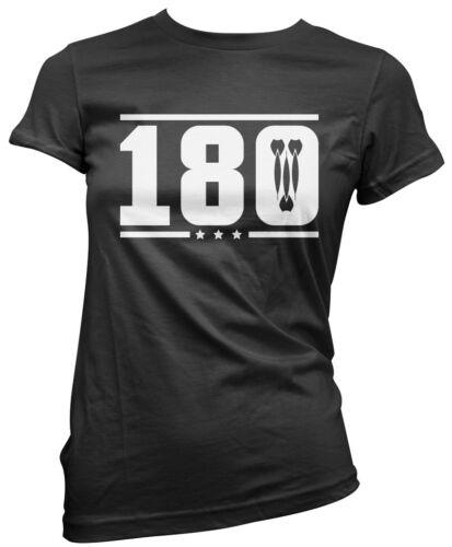 Darts Player Board Accessories Womens T-Shirt 180 Dart