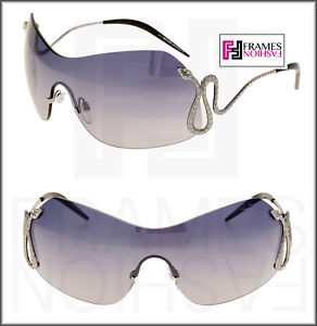 on wholesale presenting uk availability Details about ROBERTO CAVALLI Hassaleh RC896S Ruthenium Snake Blue Gradient  Shield Sunglasses