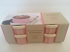 Pink Prep Bowls Ramekins Set Of 4 Natural Elements New