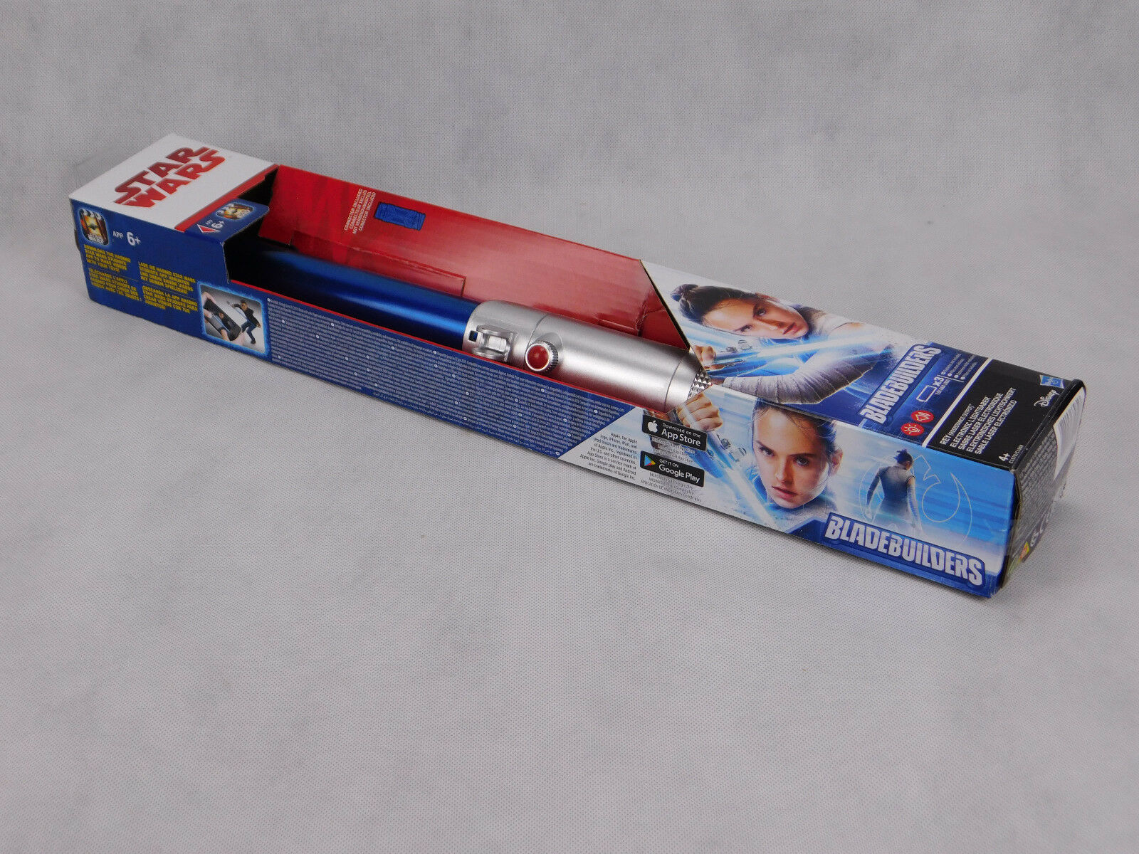 Star Wars Rey LASERSCHWERT LICHTSCHWERT LEUCHTSCHWERT blau blau blau HASBRO Bladebuilders 7059b7