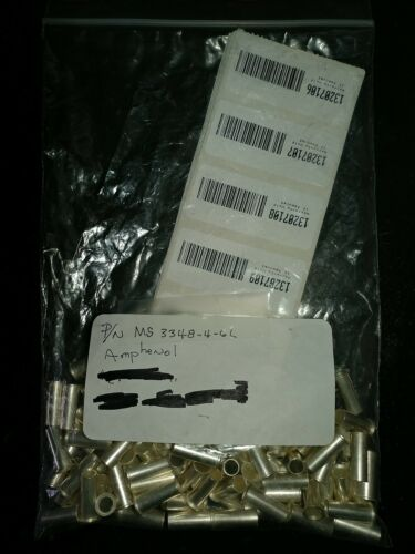 10// LOT REDUCTION SLEEVE CONTACT BUSHING NNB AMPHENOL MS3348-4-6 L ,