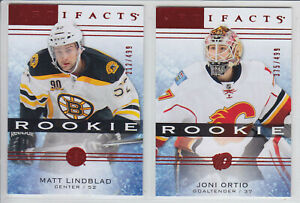 2014-15-UD-ARTIFACTS-JONI-ORTIO-RC-499-Red-Ruby-114-Rookie-Upper-Flames