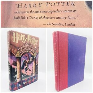 Harry Potter Sorcerer's Stone FIRST EDITION - 1st Impression DJ - 1998 Guardian