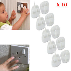x10 Safety Child Baby Proof Electric Outlet Socket Plastic Cover for EU Plug