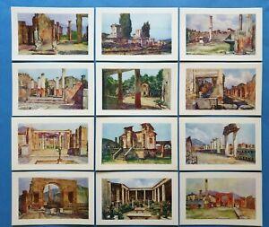 Beautiful-Set-of-12-Vintage-Italian-Art-Postcards-The-Ruins-of-Pompei-77V