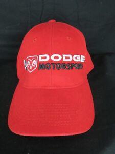 Nascar Dodge Motorsports Red Adult Hat Cap OSFA