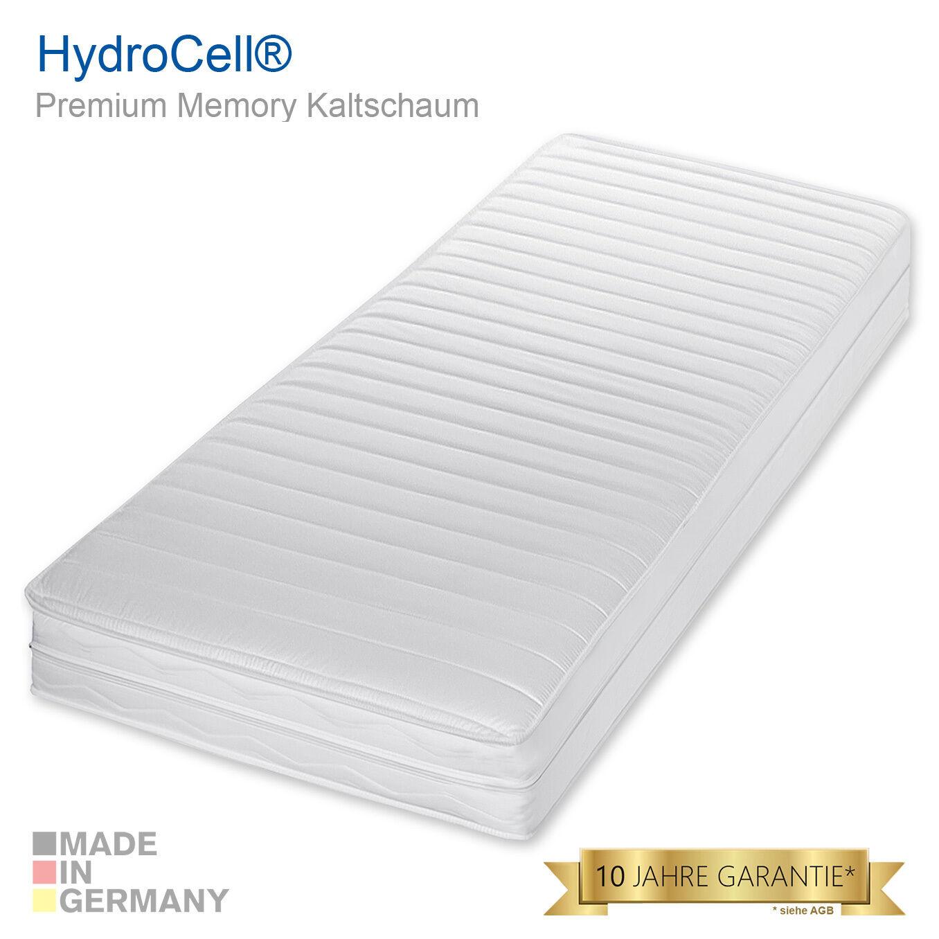7 Zonen Memoryelastische Premium Kaltschaum Komfort Plus Matratze 90x200 H2