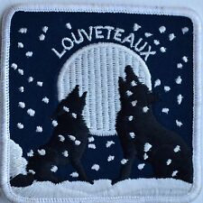 Louveteaux Écusson Patch Scoutisme Badge Emblème Animal Wolf Scout French France
